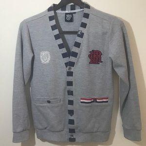 LRG Cardigan Sweatshirt Collegiate Design